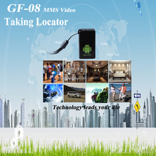 Mini Gsm Gps Tracker for Kids Pets Elder Cars Anti Lost Alarm Smallest Candy GF-08 MMS Locator Video Taking