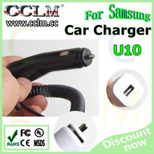 Original tablet car charger for samsung GALAXY TAB P1000 car adapter with cable U10CBE