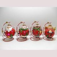 Ceramic handmade led christmas snow lantern