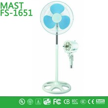 made in china high quality stand fan/cheap price 16 inch stand fan/3 speed with push button switch 5 pcs pp blade