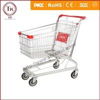 Galvanize supermarket shopping cart/shopping trolley