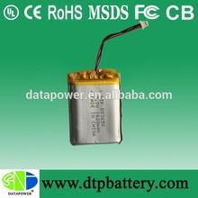 Más populares de polímero de litio de la batería/batería de litio 3.7v 1620 mah