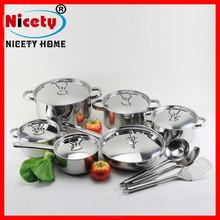 Conjunto de ollas de acero inoxidable de alta calidad de15pcs/ olla / sartén