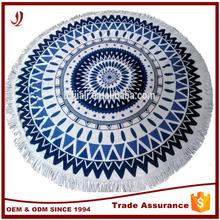 2015 Australia popular pigment printed circle / round beach towels tassels