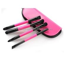 Travel set 4pcs double end makeup brush set with candy color bag