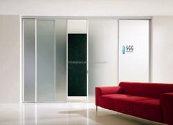 Modern sliding door glass aluminium frame