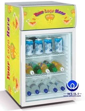 50L shop display table top glass door mini freezer mini chiller