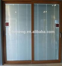 color de madera con puertas correderas / con marco de aluminio puertas correderas de cristal / aluminio puertas correderas