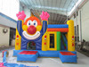 Inflatable cartoon clown combo with bouncer slide inflatable amusement park combo amusing