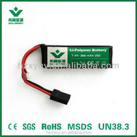 Rechgargeable 7.4v 360mah lipo battery for RC Helicopter, RC aircraft, toys ,digital products, rc plane, electric scooter