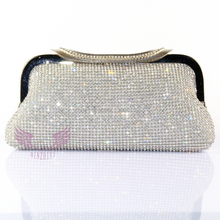 crystal and rhinestone evening bag party box clutch evening bag gold