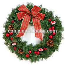 Decoración de la <span class=keywords><strong>guirnalda</strong></span> de PVC corona de adorno navidad