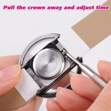 Fashion Simply Style Transparent Perspective Dial Quartz Womens Wrist automatic watch