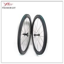 Tubeless compatible 50mm 23mm carbon fiber wheels, road bike clincher wheels, 20/24H, 3K matte, straight pull hub Sapim spokes