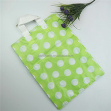 White dots printed best popular for packing shoes & clothing factory low price soft loop handle bag with high quality