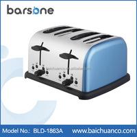 4-Slice Accents Sage Toaster, 1800 Watt, Blue,Black,Cream, Red color