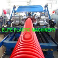 PE/PP Plastic Single Layer Corrugated Piping Line EDB-200