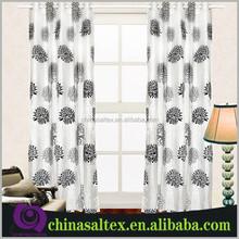 High Quality 100% Polyester Taffeta Flocked Fabric for Curtain