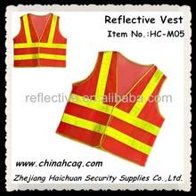 Promotion Fluorescent Orange Hi Vis Mesh Fabric Reflective Safety Vest with Prismatic Reflective Tape