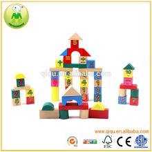 50 unids matemáticas bloque de construcción hechos a mano de madera de juguete