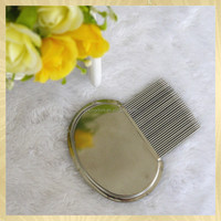pet accessory doog stainless steel lice comb