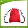 Custom logo foldable ball sleeve drawstring sport red nylon backpack shoe bag sack for promotion gift travel kid school student