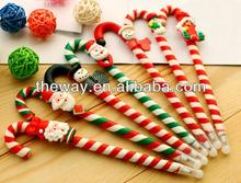 Christ Santa claus candy cane gift ball pen