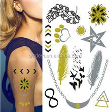 skin Jewelry temporary tattoo gold foil metallic foil flash tattoo airbrush tattoo LS47