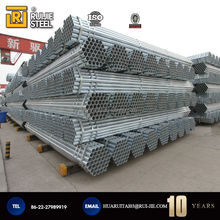 Popular hot dip Round Galvanized Steel Pipe Used for fence post