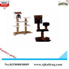 WOODEN Scratching post toy special cute house cat tree