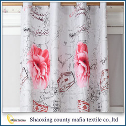 China supplier Elegant Printing european style window curtains