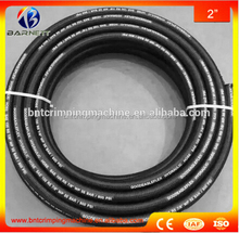 flexible SAE 100 r5 nbr steel wire braided textile covered flexible hydraulic rubber hose
