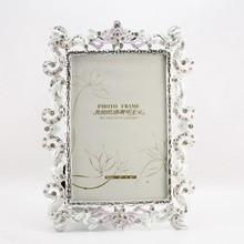 Romántico marco de fotos de acrílico venta al por mayor | piedra blanca marco cristalino de la foto HQ101648-46