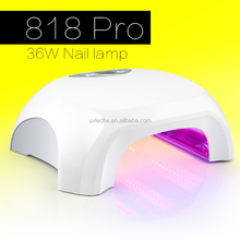 Never be replaced 818 pro 365nm+405nm houseuse nail dryer gel curing 36w UV lamp