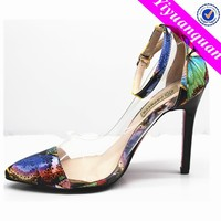 Transparent Dress Shoes with Lower High Heel Shoes