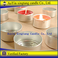 aluminum cup tealight candle / small candle in aluminum cup
