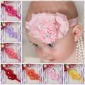 bebé hecha a mano de tul bandas para la cabeza de la flor pelo del bebé diadema diadema