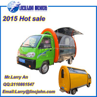 Automobile based electric food vending fast food car for sale
