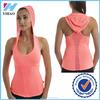 Yihao Hoodied yoga tank with hat women yoga top top selling lycra fitness clothing women tank top gym women singlet