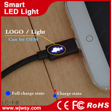 LED Logo Customized Factory Wholesale Double Speed Micro USB Magnetic Charger Adapter USB Cable for Mobile Phones