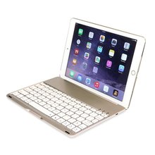 Bluetooth wireless aluminum metal portable mini thin backlit keyboard with ultra slim case coverfor iPad Air