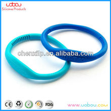 ions simple silicone bracelet with em/debossed LOGO