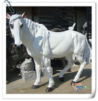 Hot Sale China factory white life size outdoor horse sculpture