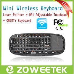 Thin Mini Bluetooth Laser Pointer Wireless Touchpad Keyboard for Android TV Box