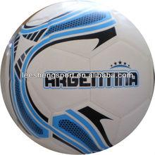 Shiny colorful pvc lamation football, soccer