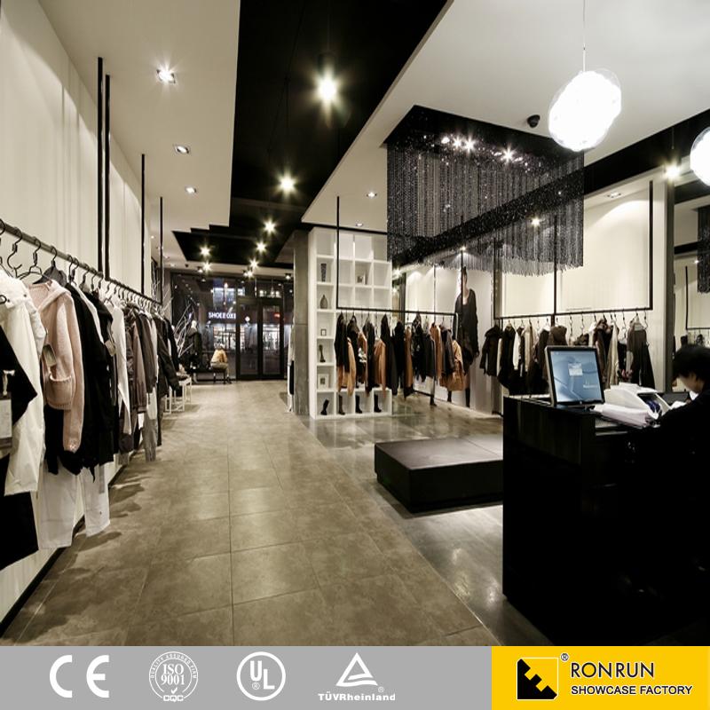 luxuy marque v tements magasin vitrine porte v tement pour la vente au d tail boutique design d. Black Bedroom Furniture Sets. Home Design Ideas