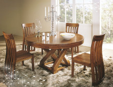 Luxury classical wooden dining room furniture set, european style dining set, dining table and chair