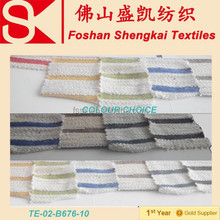 9% T 8% R 83% cotton colour stripe parttern french terry fabric