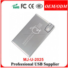 4GB 8GB Metal USB Credit Card Flash Memory Brushed Alloy Pen Drive