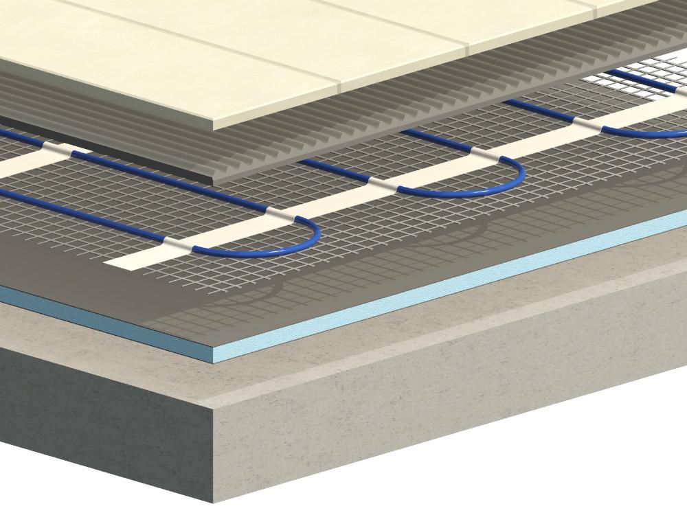 Piso sistema de calefacci n calentamiento doble conductor - Precio suelo radiante electrico por metro cuadrado ...